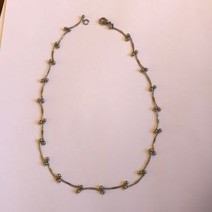 Vintage silver necklace, 16 inches.
